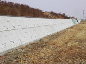 腰積(高さの低い)擁壁での施工例