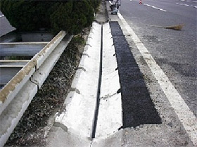 路面冠水対策用 2WAYドレインの施工例