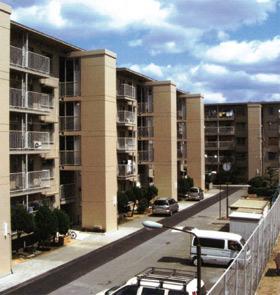 プレキャストPCエレベーターシャフトの集合住宅・団地での施工例