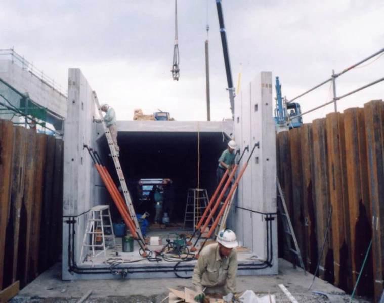 スリーブ継手(モルタル充填式)工法の施工例
