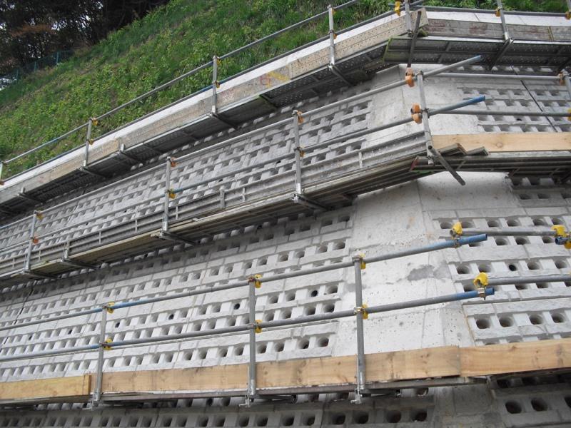 緑化土留工の施工例