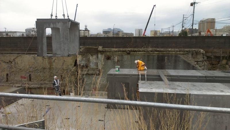 汚水貯留槽の施工例