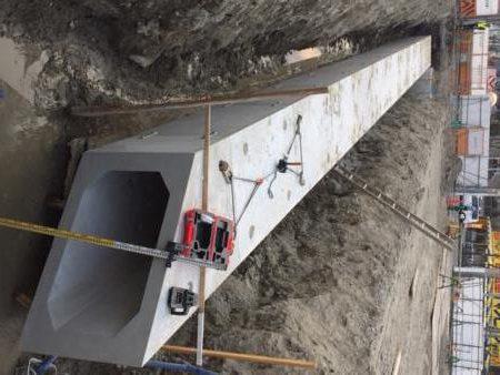 耐震性ボックスカルバート(IBボックスカルバート)の施工例
