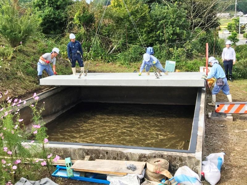 既設防火水槽有蓋化の施工例