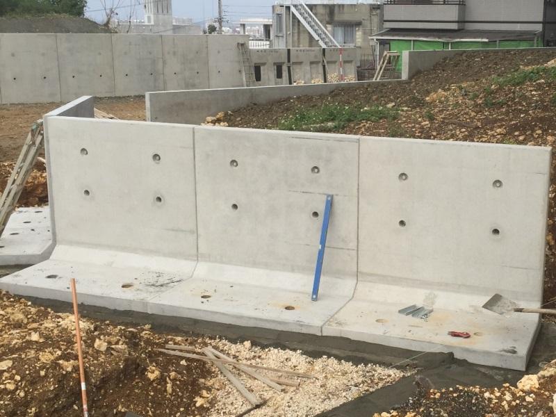 逆L型擁壁の施工例