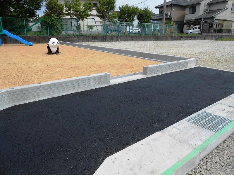 境界ブロックの施工例