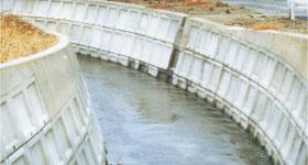 河川での施工例