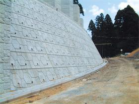 ダム工事用道路改良での施工例