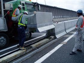 高速道路関連施設の中分PGFの施工例