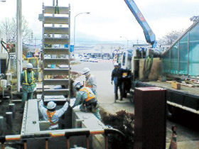 Easy Steps(ETC車線横断用地下通路昇降口)の施工例