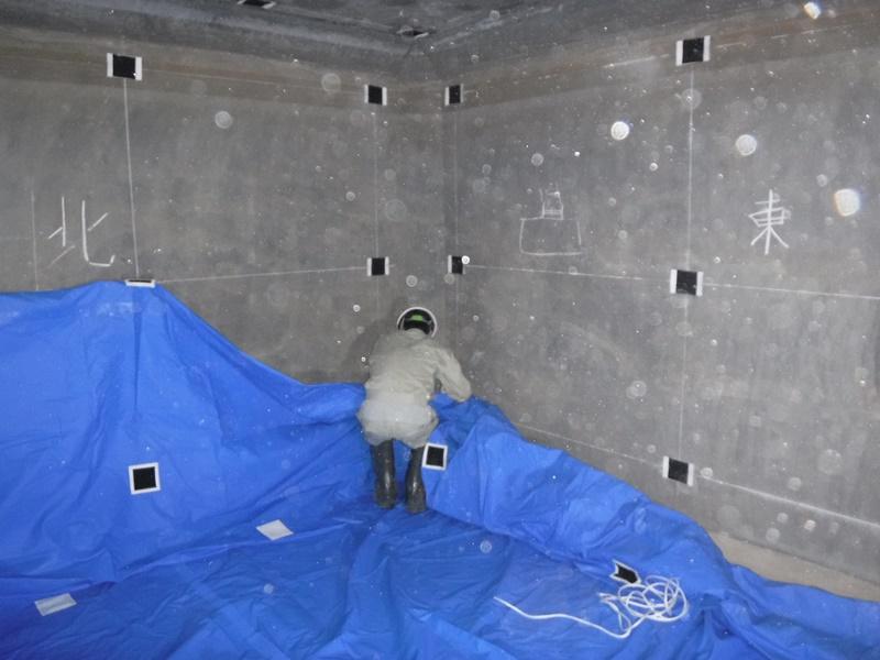 防火水槽の漏水対策工法の施工例
